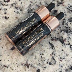 NEW-Bundle of 2-Makeup revolution liquid highlighters-SEALED